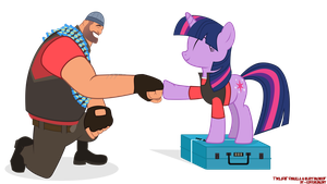 Twilight Sparkle and Heavy Brohoof by EugeneBrony