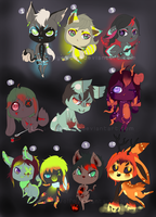 S + M Anthro Adoptables .:Closed:. by Pieology