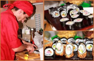 Preparing sushi by ShlomitMessica