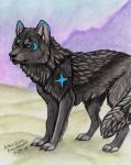 Black Moon Wolf by NatsumeWolf