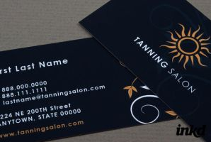 Tanning Salon Business Card by inkddesign