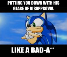 Sonic's a bad a** hedgie by totoro10