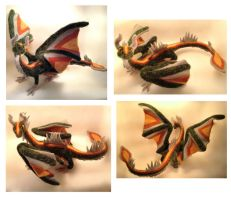OOAK Needle Felted Dragon by DreamColored