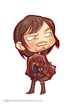 Commission: The Walking Chibi Dead #Daryl Dixon by Blatterbury