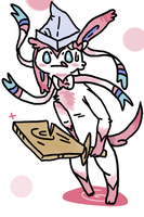 Resident Dragonslayer Sylveon by Grim-Rabbit