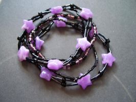Black and purple little starz by Meeshah