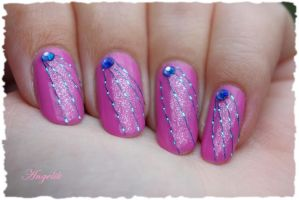 Nail Art Pink Laser by Angelik23
