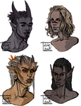 my dragon age babies by WhiteVector