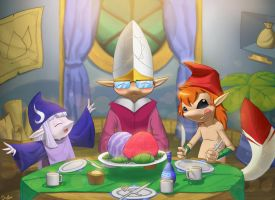 The New Year Dinner by juanFoo