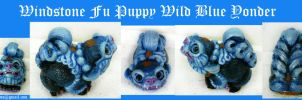 Wild Blue Yonder Windstone Fu Puppy by Eviecats