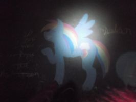 My Little Pony: Rainbow Dash Chalk art by AndroidX92