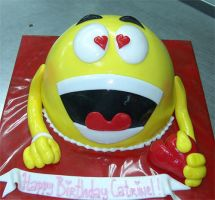 emoticon-cake by azsammaiski