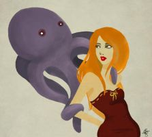 Lady and the Octopus by Mechanical-Lung