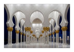 Abu Dhabi Mosque - Interior I by DanFreeman