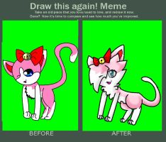 before and after X3 by snowtheacat