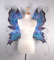 Peacock Fairy Wings - Front by glittrrgrrl