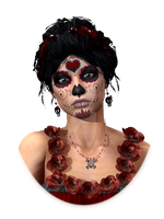 Day of the Dead Crimson Evening Profile by padonr