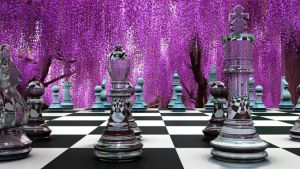 3D Chess board by howlingathemoon