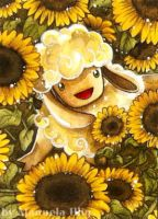 Sunflower-sheep by Diaris