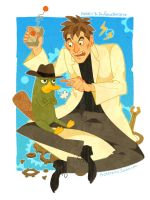 Doofenshmirtz and his BBF Perry by freestarisis