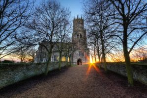 Fotheringhay Church Pathway by ChrisDonohoe