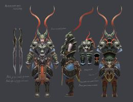 An orient ancient warrior by XatYang
