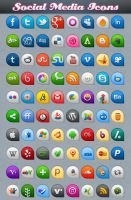Beautifull Social Media Icons by Downgraf