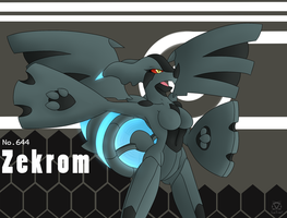 .Zekrom Anthro. by oldanthropokemon