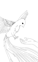 .:LINEART:. Phoenix Fire Bird by UnknownFelix