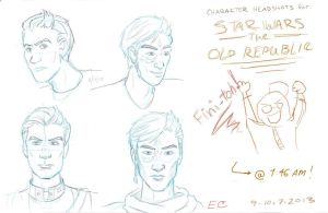 SWTOR Character Headshots by EclecticConcierge