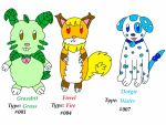 Fakemon Starters by jlj16