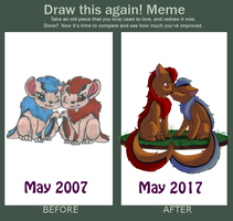 Draw This Again Meme - First Deviation by kreazea