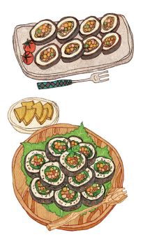 Food - Gimbap by PPOMO