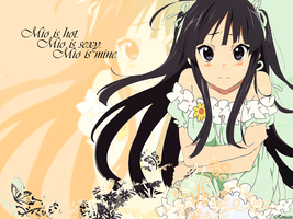 Mio K-ON Wallpaper by Renjazu
