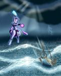 Mewtwo VS Lucario by SwayingSerenity