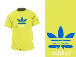 adicted t shirt, adidas by MolefaceNZ