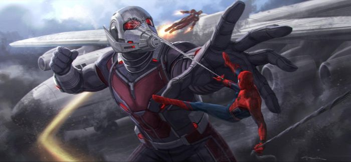 CA: CW Iron Man and Spider-Man vs Giant Man by Artlover67