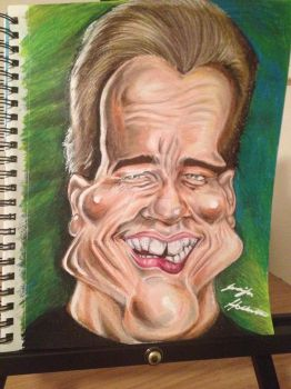 Process: Arnold Schwarzenegger Caricature 9 of 10 by AcrylicInk