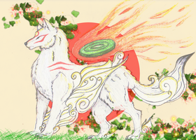 Amaterasu and the Rising Sun by Elycian