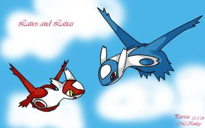 Chibi Latias and Latios by ChuLover14