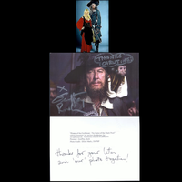 Autographed Photo from Geoffrey Rush by ChristineFrollophile