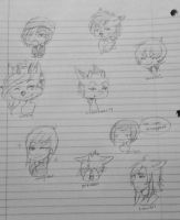 Xtreme gay facing left (except that one kiddo) by Miiroir