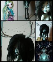 Monster High Doll custom:Night Fawn(Process Video) by BeaHopes