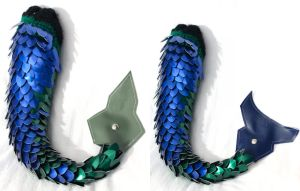 Blue and Green Dragon Tail by SerenFey