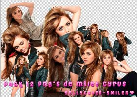 Miley Cyrus Png 12 Pack by sellylover-smiler