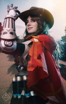 Female McCree Cosplay from Overwatch by Justicarsirena