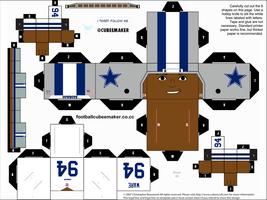 DeMarcus Ware Cowboys Cubee by etchings13