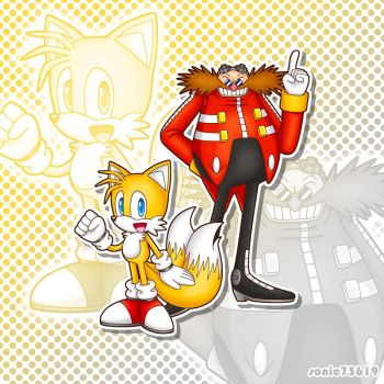 Tails and Eggman by sonic75619