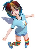 MMD Rainbow Dash model by DMN666