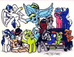 The Brony Show 3 Year Anniversary by Sketchywolf-13